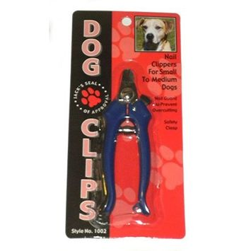 Dog Clips Dog Nail Clippers for Small to Medium Dogs with Nail Guard Comes in Black, Blue, or Red