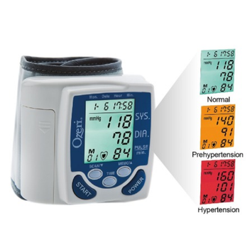Ozeri BP2M Wrist Blood Pressure Monitor with Hypertension Color Alert Technology