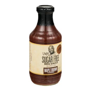 G Hughes Smokehouse Sugar Free BBQ Sauce Gluten Free Maple Brown