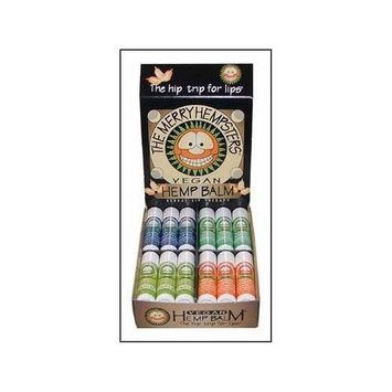 The Merry Hempsters Vegan Hemp Lip Balm Assortment Counter Display 0.14oz/24pc from The Merry Hempsters
