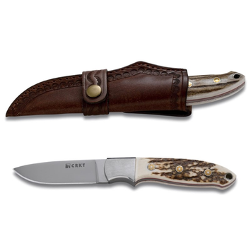 Columbia River Knife & Tool Kommer Brow Tine Stag Handle Knife