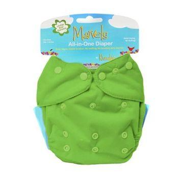 Kissaluvs Kissa's One Size All-In-One Diaper, Grassy Green
