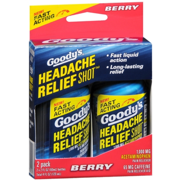 Goody's Headache Relief Shot, Berry, 2 ea
