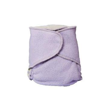 Kissaluvs Cotton Fleece Hybrid One Size Contour Diaper, Purple