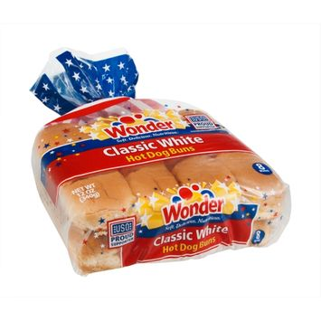 Wonder Hot Dog Buns Classic White - 8 CT