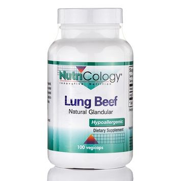 NutriCology Beef Lung Natural Glandular - 100 Vegicaps
