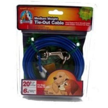 Dog Life Medium Weight Tie-Out Cable - 20 Foot