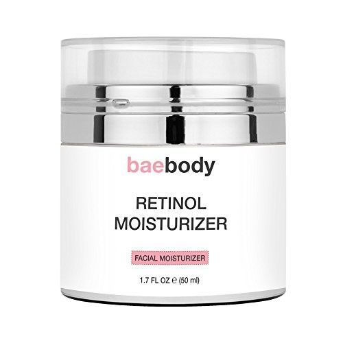 Baebody Retinol Moisturizer Cream: Helps Reduce Appearance of Wrinkles, Fine Lines. Enhanced Organic Ingredients with Retinol, Green Tea, Hyaluronic Acid, and Jojoba Oil 1.7oz.