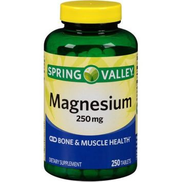 Wal-mart Stores, Inc. Spring Valley Magnesium Dietary Supplement Tablets, 250mg, 250 count