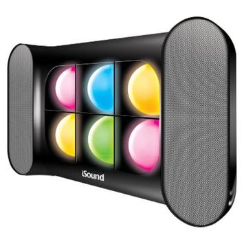 DreamGear i.Sound iGlow Sound Speaker System - Black (ISOUND-5245)
