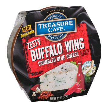 Treasure Cave Crumbled Blue Cheese Zesty Buffalo Wing Flavor