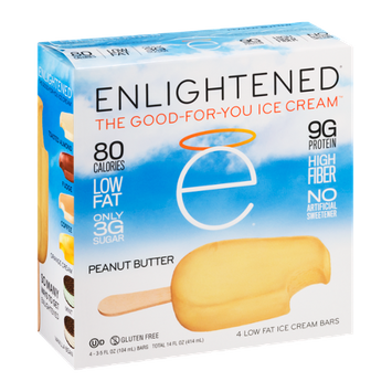 Enlightened Low Fat Ice Cream Bars Peanut Butter