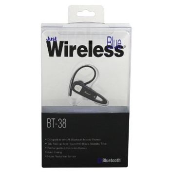 Just Wireless BT-38 Bluetooth Headset - Black