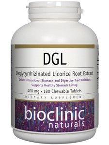 Bioclinic Naturals - DGL 400 mg. - 180 Chewable Tablets