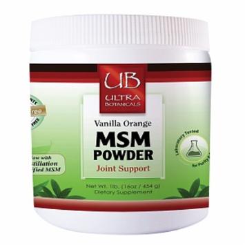 Ultra Botanicals MSM Powder, Vanilla Orange, 16 oz