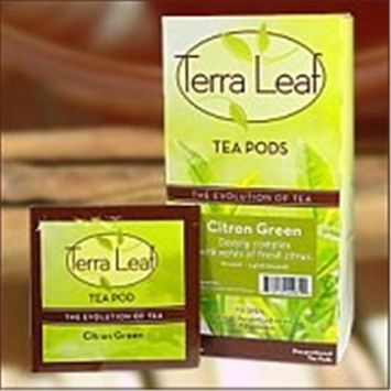 Baronet Terra Leaf 14203 Citron Green Tea Single Cup Tea Pods#44; 18count