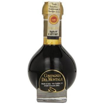 Compagnia Del Montale Aceto Balsamico Tradizionale di Modena DOP ExtraVecchio, 3.38 oz., (100 ml)