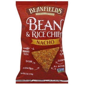 Beanfields Nacho Bean & Rice Chips, 6 oz, (Pack of 12)
