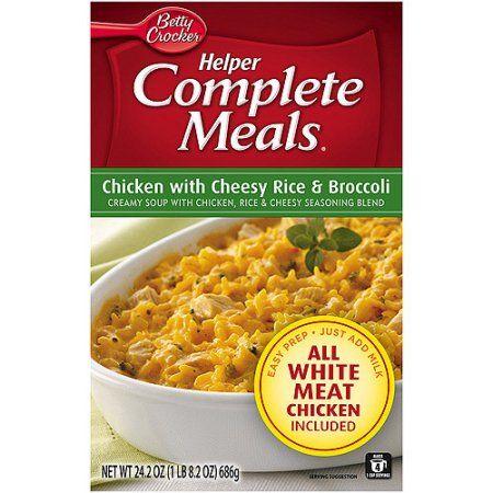 Betty Crocker™ Helper Complete Meals Chicken with Cheesy Rice & Broccoli