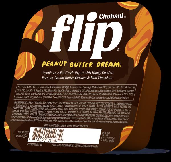 "Chobani® ""Flip""® Peanut Butter Dream® Low-Fat Yogurt"