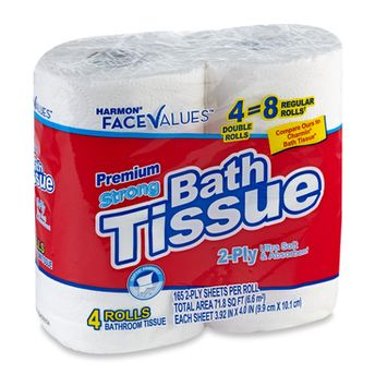 Paper Products: Harmon Face Value Bath Tissue 4 Pack