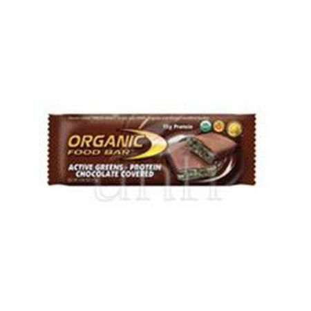 One Degree Organic Foods Bar 95% organic Act Grn Chocolate Cvrd 2.4 Oz -Pack of 12