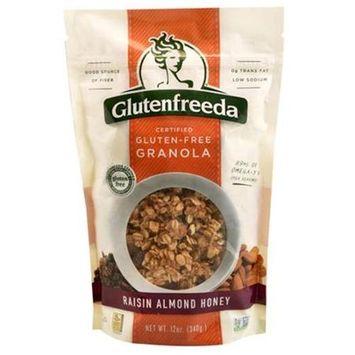 Glutenfreeda GRANOLA, RSN ALMND HNY, GF, (Pack of 6)