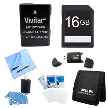 Special 16GB Card and EN-EL14 Value Battery Kit for the Nikon p7000, p7100, d3200, d5200