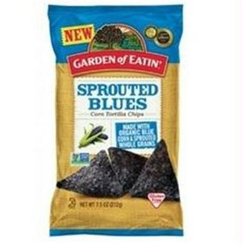 Garden Of Eatin Tortilla Chips Corn Sprouted Blues 7.5 Oz Pack Of 12