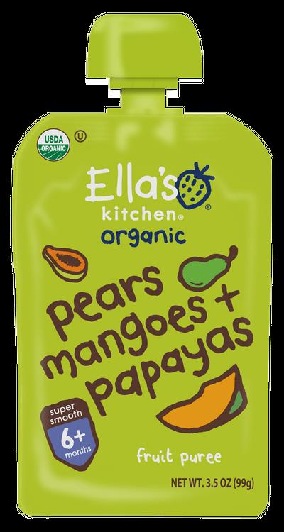 Ella's Kitchen® Organic pears, mangoes + papayas fruit puree