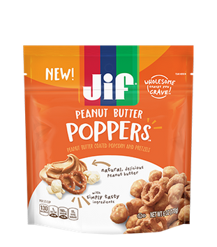 Jif® Poppers™ Peanut Butter Coated Popcorn and Pretzels