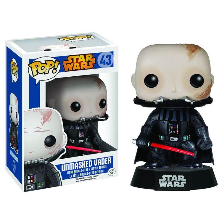 Pop Vinyl Star Wars Darth Vader Unmasked Pop! Vinyl Bobble head Figure