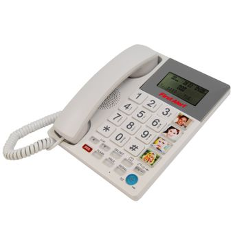 First Alert Sfa3275 Big Button Corded Telephone With Emergency Key