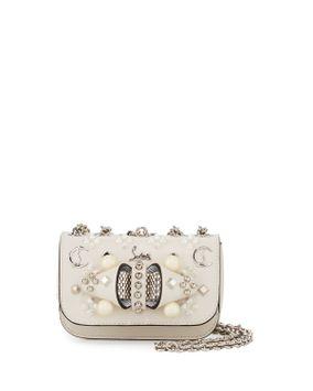 Christian Louboutin Sweet Charity Mixed-Stud Leather Crossbody Bag