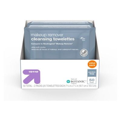 Up & Up Basic Facial Cleansing Wipes - 50ct - Up&Up