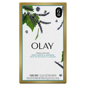Olay Fresh Outlast Purifying Birch Water & Lavender Beauty Bar