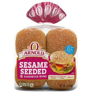 Arnold Select Sandwich Rolls with Sesame Seeds, 8 count, 14 oz