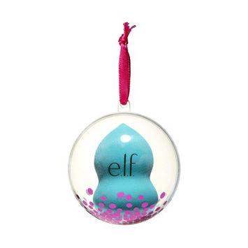 e.l.f. Holiday Blending Sponge Ornament - Blue