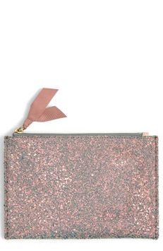 J.crew Medium Glitter Pouch, Size One Size - Multi Glitter