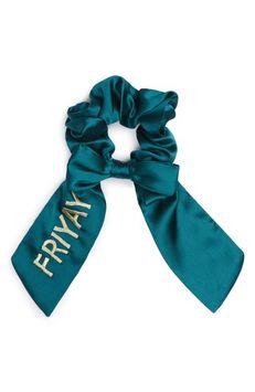 New Friends Colony Friyay Scrunchie, Size One Size - Green