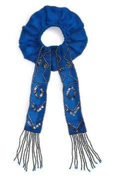 New Friends Colony Art Deco Scrunchie, Size One Size - Blue