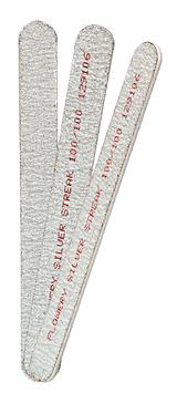 Flowery Coarse Silver Streak Nail File