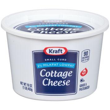 Kraft Small Curd 2% Milkfat Low fat Cottage Cheese 16 oz Tub