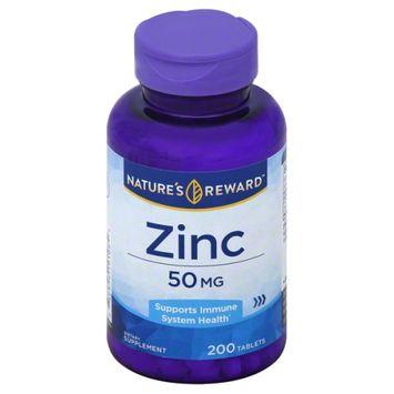 Nature's Reward Zinc 50MG 200 ct