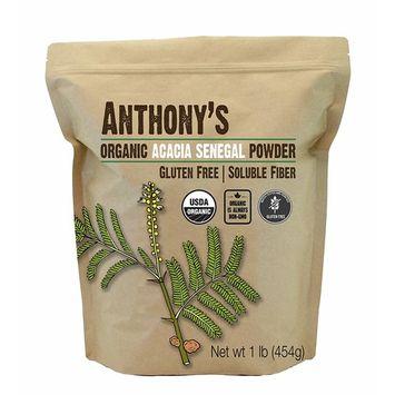 Anthony's Organic Acacia Senegal Powder (1lb), Batch Tested Gluten Free, Non-GMO, Soluble Fiber, Prebiotic