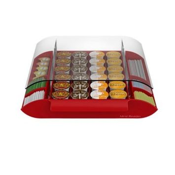 Mind Reader Coffee Pod & Condiment Organizer Red - Holds 24 K-Cups
