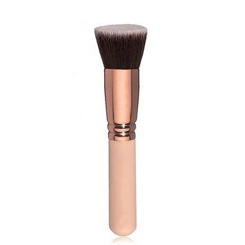 Wakeu Flat Kabuki Makeup Brush Foundation For Blending Liquid, Cream, Powder Concealer Cosmetics (G