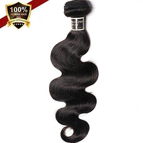 100% Unprocessed Virgin Brazilian Hair Body Wave, One Bundle Hair Extensions 18inch 7A Human Hair Bundles Natural Black 100g/PC ASHAIR (18 inch)