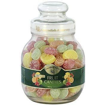 Cavendish & Harvey Fruit Candies Fruchtbonbons, 966g/34oz jar