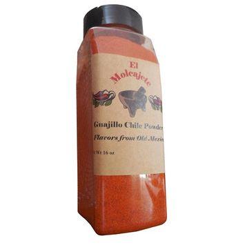 Guajillo Powder 10 oz El Molcajete Brand for Sauces, Salsa, Pasta, Chili, Meat, Pizza, Potatoes, Vegetables, Soups, Stews, Chicken and BBQ